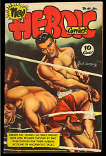 Heroic Comics #40 Nice Golden Age Jack Dempsey Boxing Cover 1947 FN-