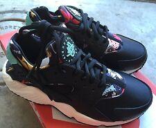 Nike Womens Air Huarache Run Print Aloha Sz 5 Black Artesian Teal Sail NIB