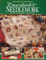Better Homes &Gardens CROSS STITCH &  NEEDLEWORK Christmas Cross Stitch Patterns