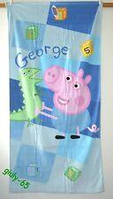 Asciugamano Peppa Pig GEORGE spugna idea regalo bimbi Telo Mare Spiaggia Bagno