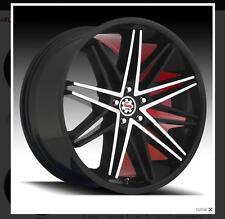"""20"""" Inch Scarlet SW1 Black Mach. Red wheel Rims & Tires fit Impala BMW"""