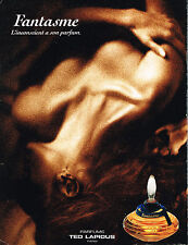 PUBLICITE  ADVERTISING  1993   FANTASME  parfum TED LAPIDUS