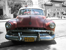 CUBA - LARGE CLASSIC VINTAGE CARS SHOTS - WOW!!!!! FACTOR WHEN FRAMED