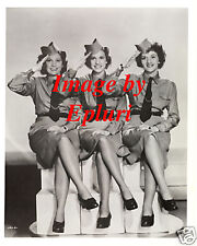 Andrews Sisters 8x10 B&W Publicity Photo