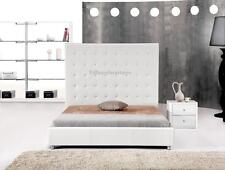 #4007 Gorgeous Modern Cal/Eastern King Size White PU Leather bed
