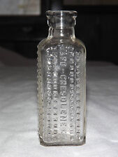VINTAGE 1894  VAPO CRESOLENE CO  POISON  HOBNAIL MEDICINE BOTTLE