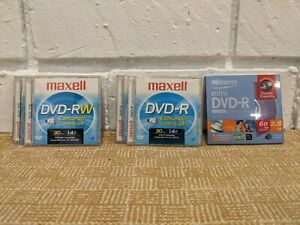Lot of 5 - DVD-R & RW Camcorder Video Disc