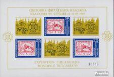 Bulgarie Bloc 185 (complète edition) neuf avec gomme originale 1989 Briefmarkena