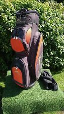 PowaKaddy Sport 6 Way Golf Cart/Trolley Bag Unisex Mens/Womens Orange Black VGC