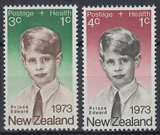 New Zealand 1973 ** Mi.611/12 Gesundheit Health Prinz Edward [sq6922]