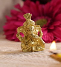 Cute Brass Ganesha Ganesh Statue Unique Hinduism Figure Idol