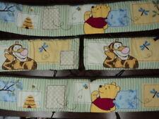 Winnie The Pooh & Tigger Nursery 4 PC Crib Bumper Pad Unisex Kidsline - Cute!