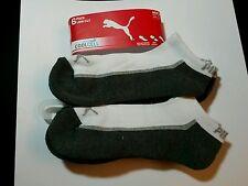 NEW Puma Men's /Womens's Premium Low Cut  Socks 6 Pair White /GRAY  Size 10-13