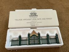 """Deptartment 56 Heritage """"Village Wrought Iron Gate And Fence """" # 5514-0 - Mint"""