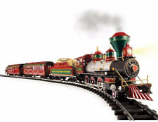 Electric Train Set White Christmas Express Large G Scale Christmas Holiday Decor