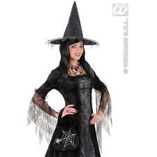Ladies Black Spider Handbag Witch Halloween Fancy Dress Costume Accessory Bag