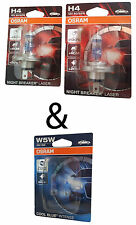 H4 OSRAM Night Breaker LASER+130 2st. Blister + 2st. Cool Blue W5W  64193NBL-01B
