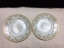 Limoges Haviland Schleiger 340 Double Gold Dinner Plates, 9 3/4""