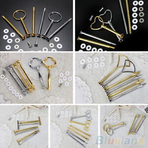 2Or3 Tier Cake Plate Stand Multi-Style Handle Fitting Hardware Rod Tool Durable