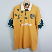 AUSTRALIA Wallabies Canterbury Mens Size XL 2006 / 07 Test Rugby Jersey
