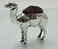 Antique Sterling Solid Silver Rare Novelty Camel Pin Cushion 1904 (1564/9/VSA