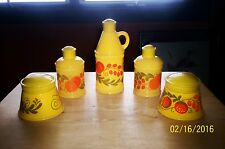5 Vintage Avon Pennsylvania Dutch Decanters - Moonwind, Sonnet, Patchwork