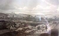 - WÜRZBURG vom Hieb - Gesamtansicht / Bayern / Franken - Stahlstich um 1847