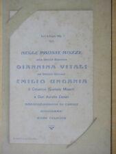 1905-NOZZE GIANNINA VITALI di FORLI' e EMILIO UNGANIA di FAENZA+