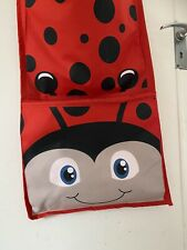 Lilley And Dan Red Ladybird 3 Pocket Hanging Storage Perfect Condition