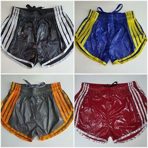 PU Nylon Sprint Shorts mit Gummizug Retro Shorts Größe S~4XL
