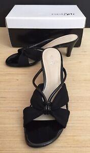 """New Women's EAST 5TH HEATHER BLACK Size 6 M(B) Slip On Open Toe 2.5"""" Heels Pumps"""