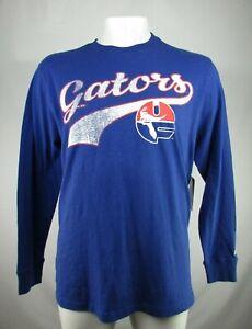 Florida Gators NCAA Men's Starter Blue Distressed Long Sleeve Shirt