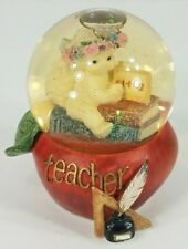 Dreamsicles Favorite Teacher red apple shaped collectible mini glitter snowglobe