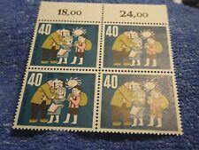 GERMANY 1961 40  Pf # BLOCK OF 4  (B379) MINT NH OG! SUPERB! (HANSEL & GRETL)