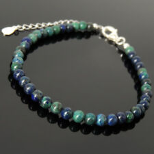Men's Women Bracelet Mixed Chrysocolla Lapis 925 Sterling Silver Clasp Link 1252