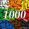 Lego 1000 Pieces Building Blocks City DIY Creative Bricks Bulk Model Toy Figures