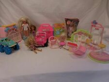 Barbie Kelly House Lot playset New Doll + New Clothes +Dolls + acc + Jeep + 1997