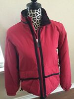 AEO Ladies Size Small Ski Jacket Red Hoodie American Eagle Outfitters