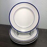 """Williams-Sonoma Brasserie Blue 11"""" Porcelain Dinner Plates Set Of 4 Japan"""