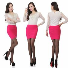 Elastic Pleated Skirt High Waist Bodycon Skirts Mini Skirt Short Pencil Skirts