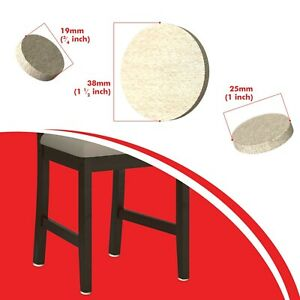 Furniture Felt Pads for Chairs & Tables to Protect your Flooring Beige 5mm Thick