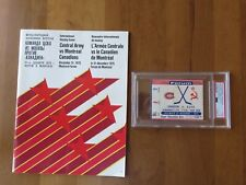 Dec 31st,1975 Montreal Canadiens vs Russia Red Army Program and Ticket RARE