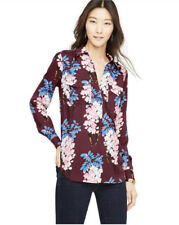 Ann Taylor - Womens M - NWT - Petal Floral Pullover Utility/Camp Blouse
