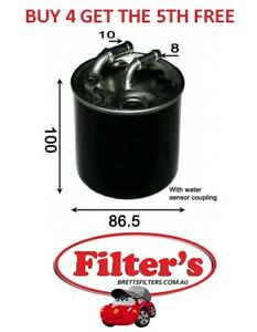 FUEL FILTER FOR MERCEDES BENZ ML 300 350 3.0L W164 V6 OM642-940 CDi 2009 - ON