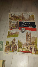 Vintage Antique original  Scarf Tapestry  Oxford University  London England UK