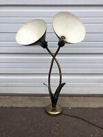 Vintage Mid Century Modern Tulip Lamp Black And Gold MCM Retro