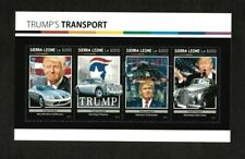 Sierra Leone 2017 - Donald Trump's Modes of Transport - Sheet of 4 Stamps - MNH