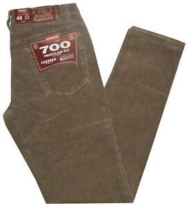 Pantalone uomo velluto 500 righe CARRERA  jeans 46 48 50 52 54 56 58 60 62 beige