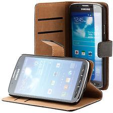 Samsung Galaxy S4 Active i9295 handy tasche schwarz case Brieftasche Wallet
