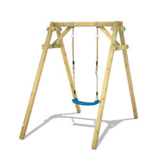 """WICKEY Swing Set """"Smart One"""" - Wooden playground for kids - Outdoor play set"""